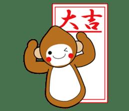 lucky monkey sticker sticker #4802165