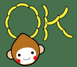 lucky monkey sticker sticker #4802168