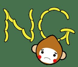 lucky monkey sticker sticker #4802169