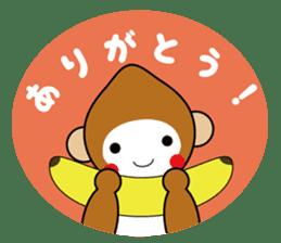 lucky monkey sticker sticker #4802170