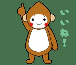 lucky monkey sticker sticker #4802171