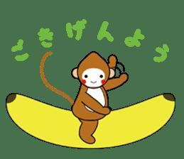 lucky monkey sticker sticker #4802175
