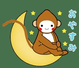 lucky monkey sticker sticker #4802177