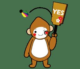 lucky monkey sticker sticker #4802178