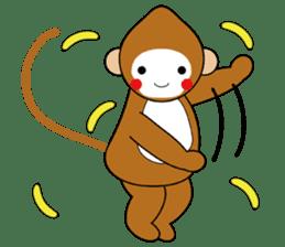 lucky monkey sticker sticker #4802184