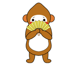 lucky monkey sticker sticker #4802186