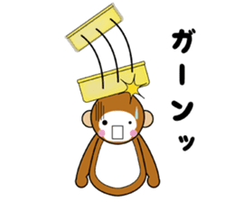 lucky monkey sticker sticker #4802187