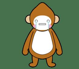 lucky monkey sticker sticker #4802188