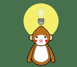 lucky monkey sticker sticker #4802190