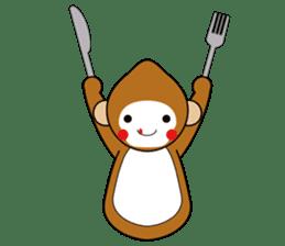 lucky monkey sticker sticker #4802192