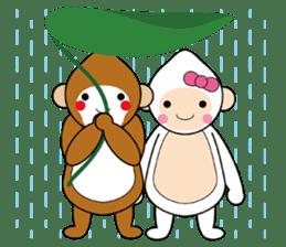 lucky monkey sticker sticker #4802194