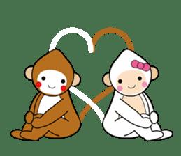 lucky monkey sticker sticker #4802195
