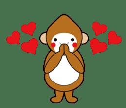 lucky monkey sticker sticker #4802196