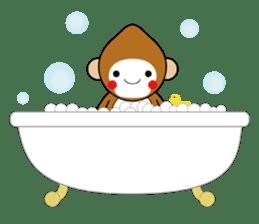 lucky monkey sticker sticker #4802198
