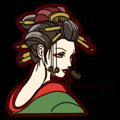 Kimono Japanese-style beautiful woman