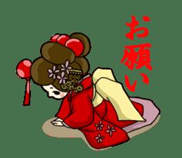 Kimono Japanese-style beautiful woman sticker #4803040