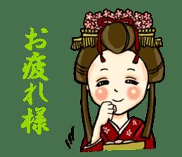 Kimono Japanese-style beautiful woman sticker #4803046