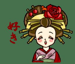 Kimono Japanese-style beautiful woman sticker #4803053
