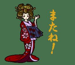 Kimono Japanese-style beautiful woman sticker #4803054