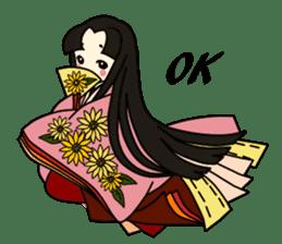 Kimono Japanese-style beautiful woman sticker #4803056