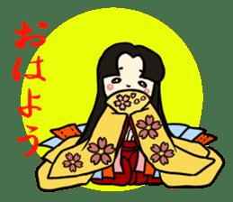 Kimono Japanese-style beautiful woman sticker #4803057