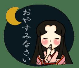 Kimono Japanese-style beautiful woman sticker #4803061