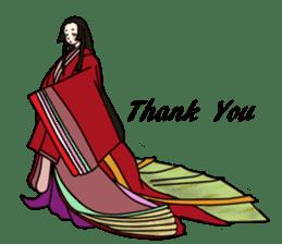 Kimono Japanese-style beautiful woman sticker #4803063