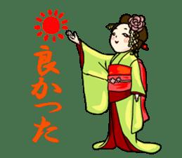 Kimono Japanese-style beautiful woman sticker #4803075