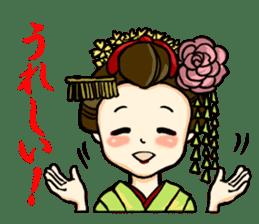Kimono Japanese-style beautiful woman sticker #4803076
