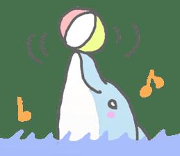 Honobono dolphin sticker #4803161