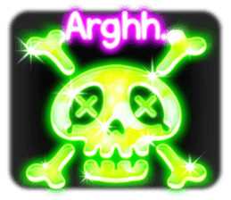 Glowing Stickers (Best With Black Theme) sticker #4812764