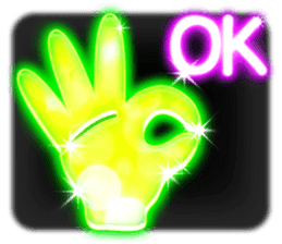 Glowing Stickers (Best With Black Theme) sticker #4812772