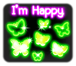 Glowing Stickers (Best With Black Theme) sticker #4812795
