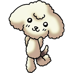 Cute Toy Poodle Sticker(Japanese)