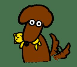 "Silly dog ""F"" sticker #4816927"