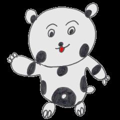 Strange panda drawn by the wife