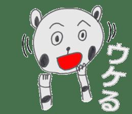 Strange panda drawn by the wife sticker #4818415