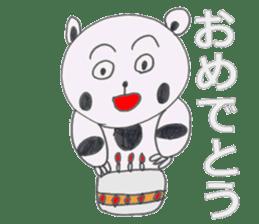 Strange panda drawn by the wife sticker #4818416