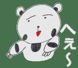 Strange panda drawn by the wife sticker #4818417