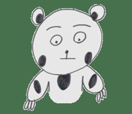 Strange panda drawn by the wife sticker #4818419
