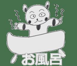 Strange panda drawn by the wife sticker #4818422