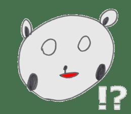 Strange panda drawn by the wife sticker #4818423