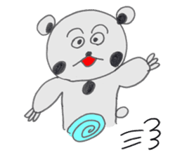 Strange panda drawn by the wife sticker #4818427