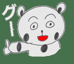 Strange panda drawn by the wife sticker #4818429
