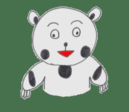 Strange panda drawn by the wife sticker #4818439