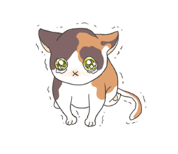 Cat and boy sticker #4819322