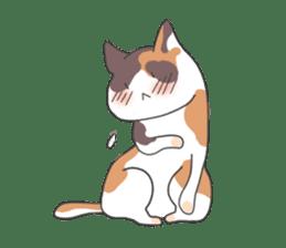 Cat and boy sticker #4819325