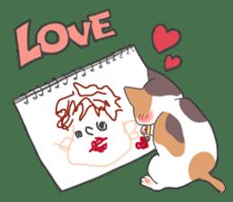 Cat and boy sticker #4819327