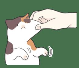 Cat and boy sticker #4819352