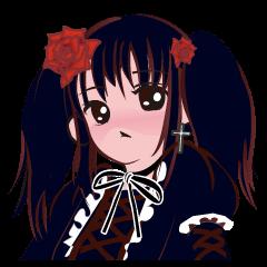 Gothic Lolita girl Sticker